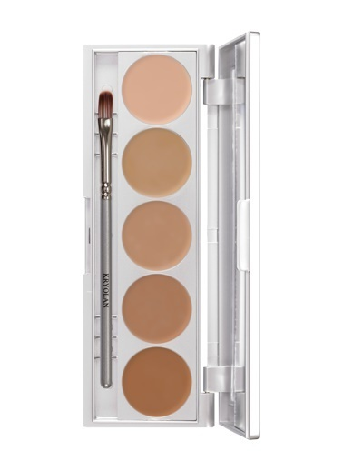 Kryolan Hd Micro Foundation Cache Palette 5 Colors Ten